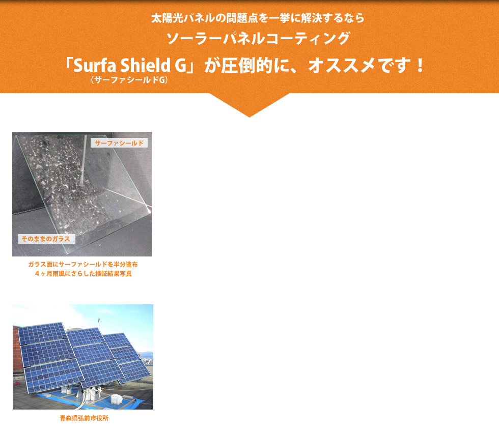 自己洗浄力と透過率アップで、太陽光パネルの発電量に差がでます。