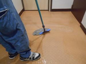 定期清掃 大阪 共有廊下 床清掃02