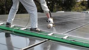 太陽光パネルコーティング施工