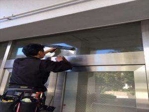 高校 窓清掃