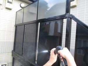 大阪 日常清掃 クモの巣の除去02