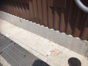 外壁モルタル 清掃 作業後
