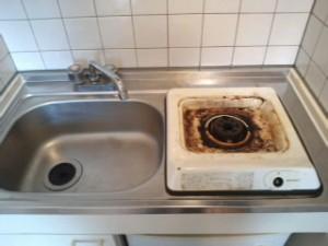CA3J004西ノ宮 ハウスクリーニング ワンルームマンション キッチン清掃01
