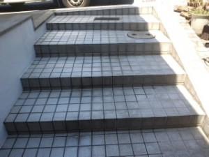 高圧洗浄 大阪 駐車場階段03