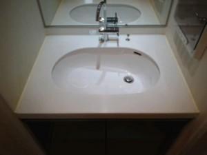 大阪 ハウスクリーニング 高層マンション 洗面台清掃
