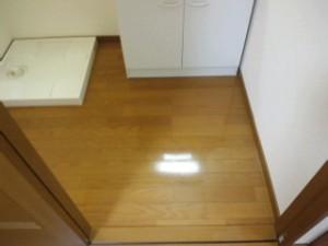 兵庫県三田市 ハウスクリーニング フローリングワックス掛け03