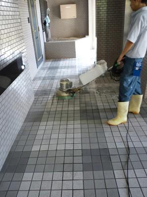 大阪市マンション定期清掃の洗浄