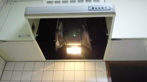 尼崎市 ハウスクリーニングレンジフードの内部の清掃03