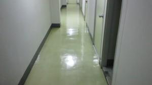 大阪市中央区 オフィスビル 廊下 剥離洗浄03