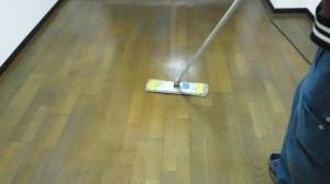 西宮 ハウスクリーニング フローリング清掃・ワックスがけ02