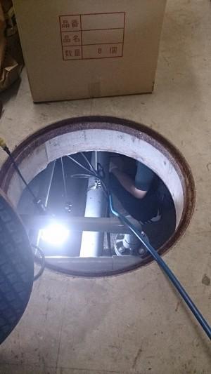 マンション汚水槽 清掃02