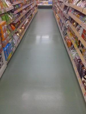 大阪 高石市スーパー定期清掃 床剥離洗浄03
